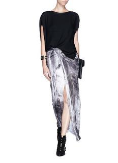 HELMUT LANGAsymmetric drape front jersey skirt