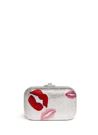 Main View - Click To Enlarge - Judith Leiber - 'Pucker Up Slide Lock' crystal pavé minaudière