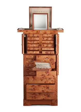 - Agresti - Elm briar wood large jewellery armoire