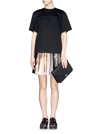 Figure View - Click To Enlarge - Alexander Wang  - Prisma envelope leather clutch