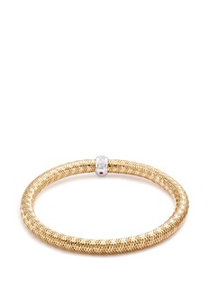 Roberto Coin 'Primavera' diamond 18k yellow and white gold bracelet
