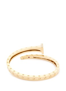 Roberto Coin 'Chiodo' diamond 18k yellow gold bangle