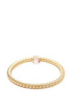COIN ROBERTO S.R.L. 'Primavera' diamond mother of pearl 18k yellow gold bracelet