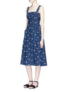 NicholasBelted polka dot cotton poplin midi dress
