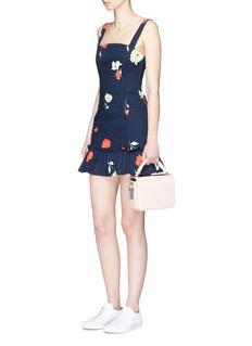 NicholasRuffle hem floral print twill dress