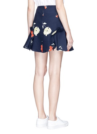 Back View - Click To Enlarge - Nicholas - Ruffle trim floral print mini skirt