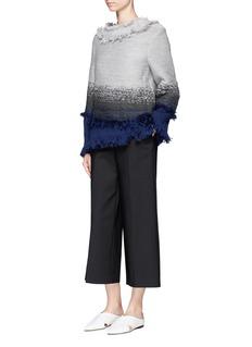 Xu ZhiBraided ombré frayed trim cashmere sweater
