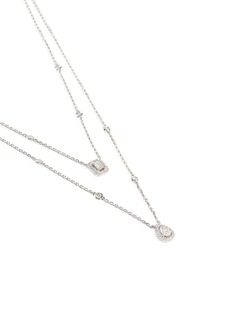Messika'My Twin' diamond 18k white gold tiered necklace