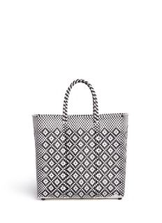 Truss Medium woven diamond PVC tote