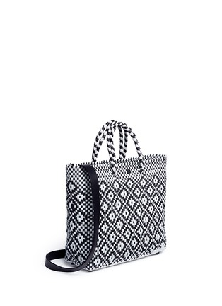 Detail View - Click To Enlarge - Truss - Small woven diamond PVC shoulder bag