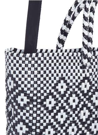 - Truss - Small woven diamond PVC shoulder bag