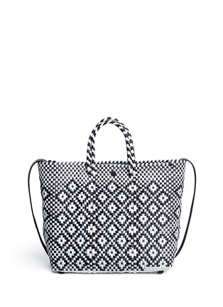 Main View - Click To Enlarge - Truss - Small woven diamond PVC shoulder bag