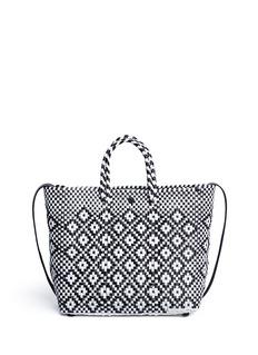 TrussSmall woven diamond PVC shoulder bag