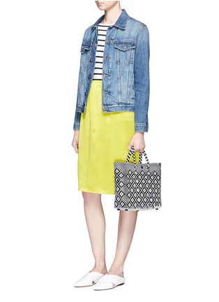 Figure View - Click To Enlarge - Truss - Small woven diamond PVC shoulder bag