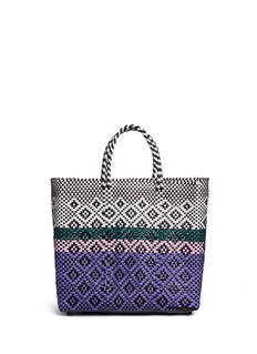 Truss Medium woven stripe diamond PVC tote