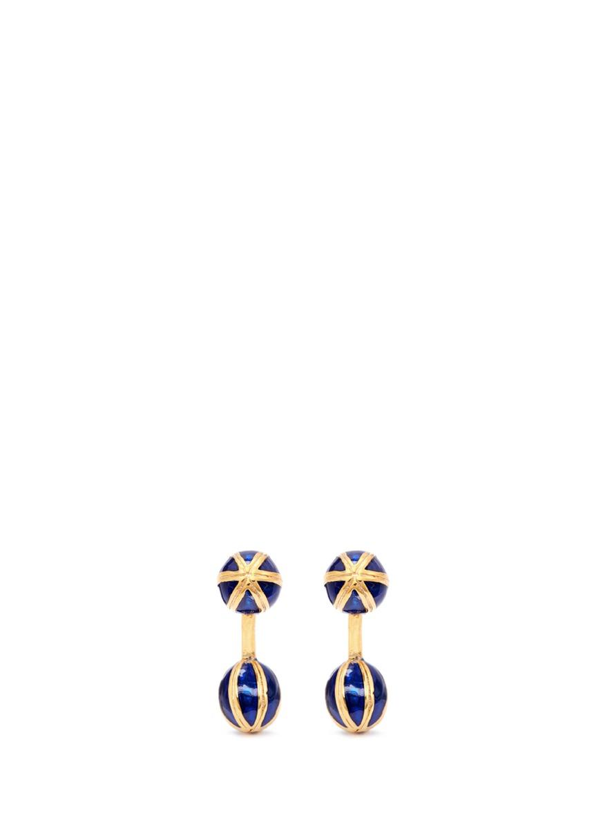 magnus novus male enamel droplet cufflinks