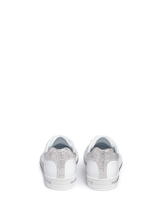Back View - Click To Enlarge - René Caovilla - Strass pavé calfskin leather sneakers