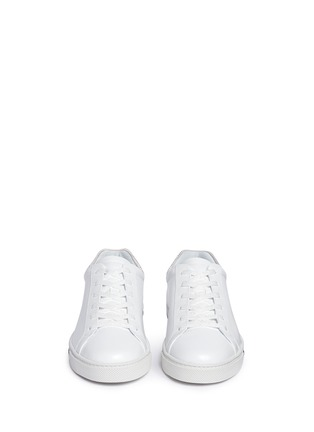 Front View - Click To Enlarge - René Caovilla - Strass pavé calfskin leather sneakers