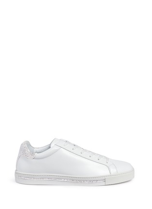 Main View - Click To Enlarge - René Caovilla - Strass pavé calfskin leather sneakers