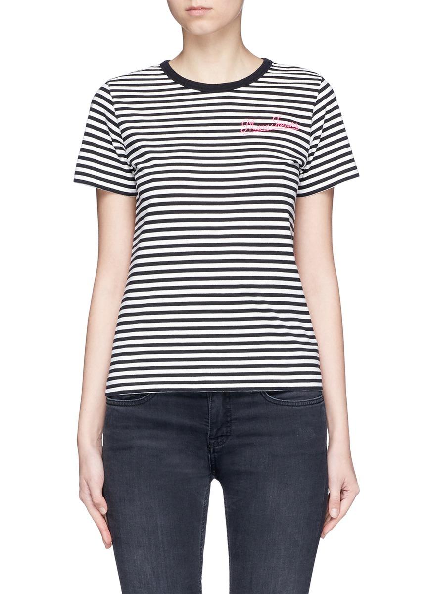 Leopard print stripe jersey T-shirt by Marc Jacobs