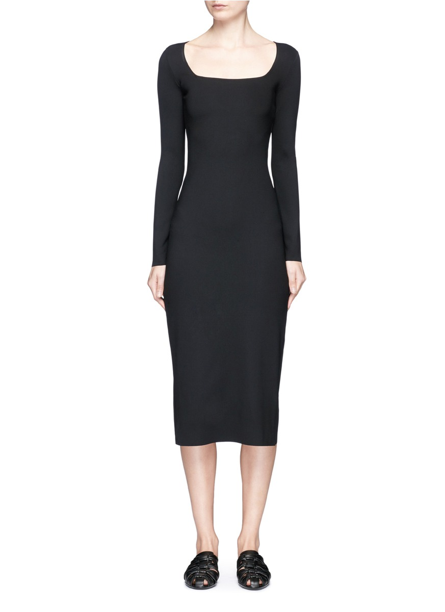 Xenia long sleeve bodycon neoprene dress by The Row