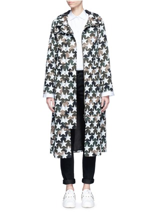 Main View - Click To Enlarge - Valentino - Oversized star print camouflage hooded coat
