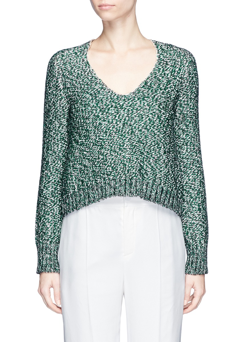 Metallic tweed effect sweater by Lanvin