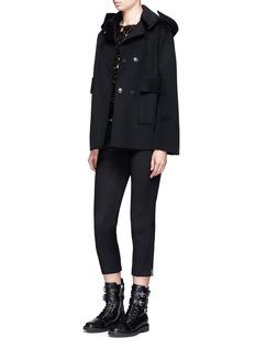 Ms MINDetachable hood wool jacket