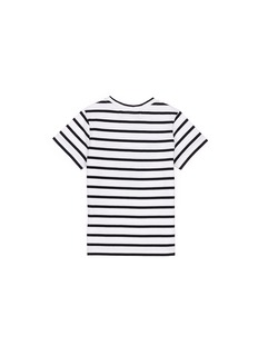 Etre Cecile  'Mini Me Dog' print stripe kids T-shirt