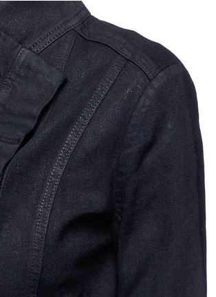 Detail View - Click To Enlarge - Vince - Coated denim jacket