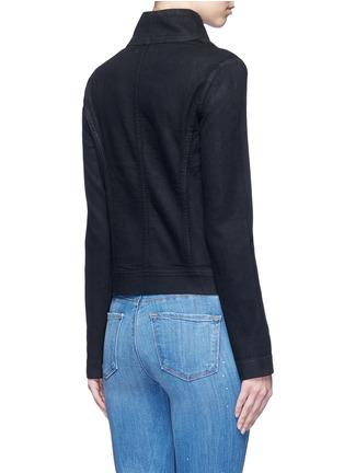Back View - Click To Enlarge - Vince - Coated denim jacket