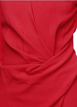 Detail View - Click To Enlarge - Lanvin - Ruched bow waist wool blend gown