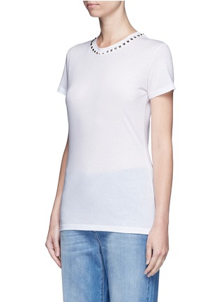 Front View - Click To Enlarge - Valentino - 'Rockstud Untitled 09' jersey T-shirt
