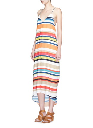 alice + olivia - 'Cortes' carnival stripe print crepe dress
