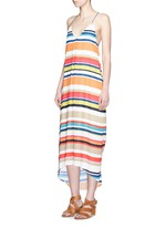 'Cortes' carnival stripe print crepe dress