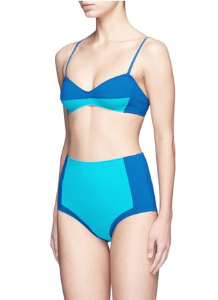 Figure View - Click To Enlarge - Araks - 'Emil' colourblock high waist hipster bikini bottoms