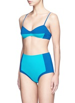 'Emil' colourblock high waist hipster bikini bottoms