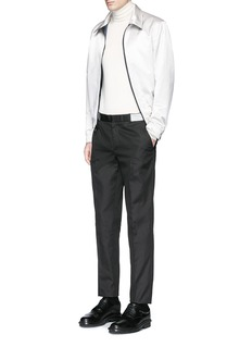 Alexander McQueen Metallic waistband cotton twill pants
