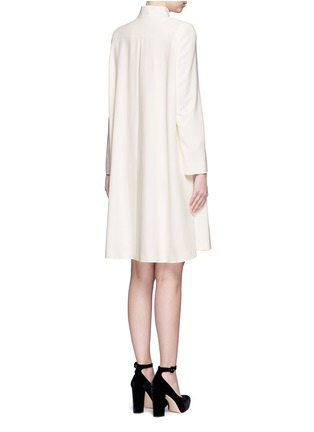 Back View - Click To Enlarge - Alexander McQueen - Cape crepe coat