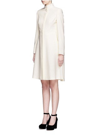 Front View - Click To Enlarge - Alexander McQueen - Cape crepe coat