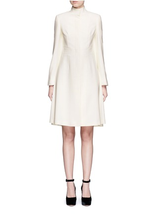 Main View - Click To Enlarge - Alexander McQueen - Cape crepe coat