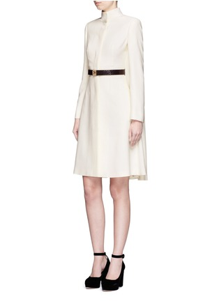 Figure View - Click To Enlarge - Alexander McQueen - Cape crepe coat