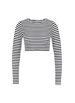 'Cannes' stripe long sleeve rashguard