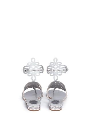 背面 - 点击放大 - RENÉ CAOVILLA - 仿水晶镂空夹脚凉鞋