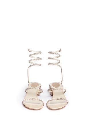 René Caovilla-'Snake' strass pavé spring coil sandals