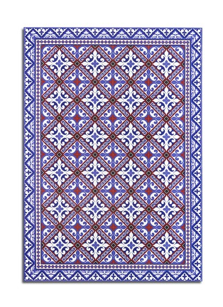 BEIJA FLOR-Flor de Lis wide floor mat