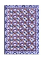Flor de Lis wide floor mat