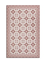 Flor de Lis dining table floor mat