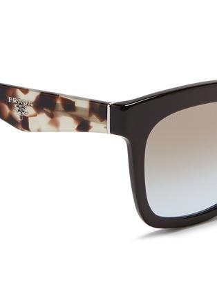 Detail View - Click To Enlarge - Prada - Colourblock tortoiseshell acetate square sunglasses