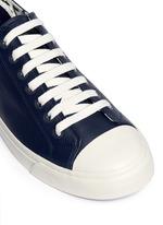 'Indie' stripe heel leather sneakers